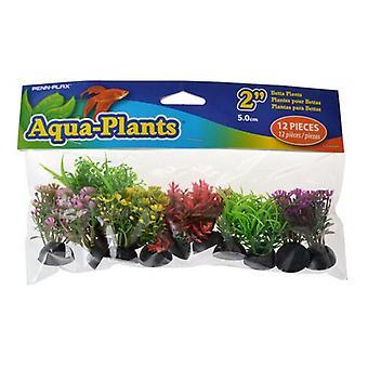 Penn Plax Aqua-Plants Betta Plants - Liten - 12 Räkning