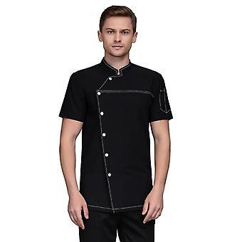 Unisex Chef Jacket Restaurant Uniform Short Sleeve Head Chef Uniform