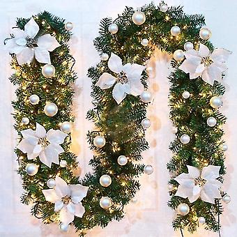 Holiday ornament displays stands christmas tree garland 270 cm  artificial christmas tree garland decorated led lights for christmas