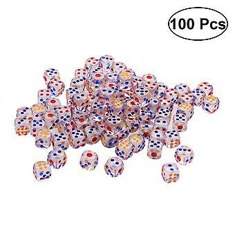 100 יח' קוביות אקריליות 6 קוביות שקופות צדדיות למשחקי בר של מפלגת Ktv - #15