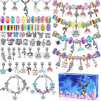 112pcs Diy حبة الأساور تعيين قلادة المجوهرات صنع كيت كرافت لوازم المراهقين الفتيات هدية