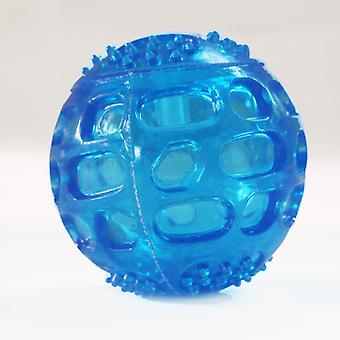 3 Pcs Sound Toy Balls For Dogs Indestructible Bouncing Solid And Resistant Rubber For Training (blue)