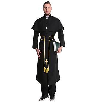 Jesus Christ Male Missionary Costume Halloween Priest Father Maria Cosplay Uniform