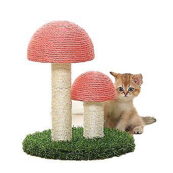 Pet Toy Cat Gantry Climbing Tongtianzhu Natural Linen Rose Sisal Double Head + Lawn-