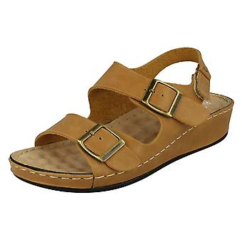 Ladies Down To Earth Casual Buckle Up Sandals