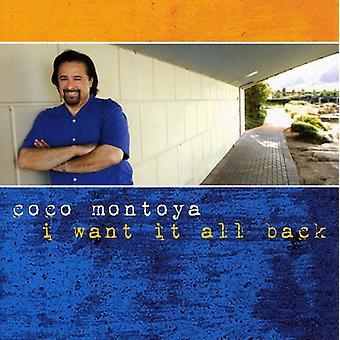 Coco Montoya - I Want It All Back [CD] USA import