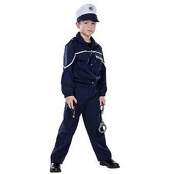 Polizist Kinder Kostüm Junge Gesetzeshüter Cop Karneval Fasching