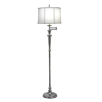 Stiffel Arlington Antiek nikkel verstelbare Swing Arm vloer vloerlamp