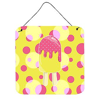 Ice Pop Popsicle roze geel muur of deur hangen Prints