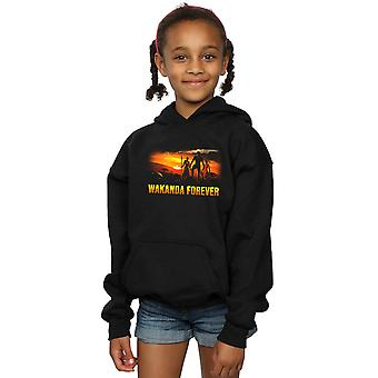 Marvel Girls Black Panther Wakanda Forever Hoodie