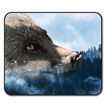 Fox Auge Tier Wilde Maus Anti-Rutsch Matte Pad 24 x 20 cm | Wellcoda