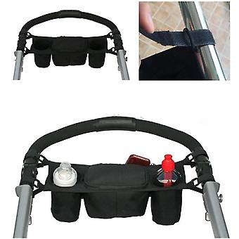 Buggy Pram  Pushchair Bag Travel Bag Organizer Cup Bottle Holder Console Tray