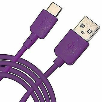 For Motorola Moto X4 - Universal 2 Metre Type-C USB 3.1 Fast Data/Charging Cable (Purple) by i-Tronixs
