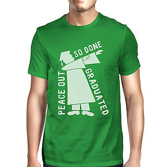 Graduated Dab Dance Mens Green Funny Graphic Graduation Gift Tee