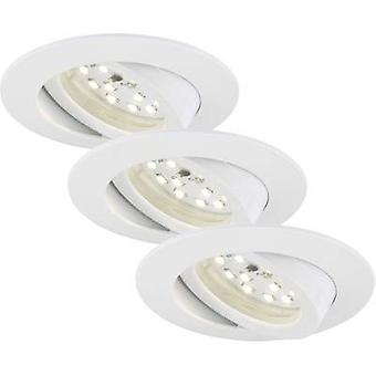 Briloner 7232-036 LED recessed light 3-piece set 16.5 W Warm white White