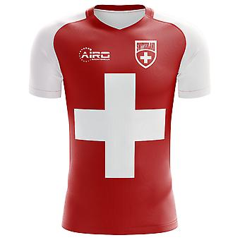 2020-2021 Switzerland Flag Concept Football Shirt (Kids)