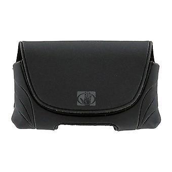5 حزمة-هيئة قفاز-عالمية الأفقي الهاتف الحقيبة للهواتف المتوسطة-أسود