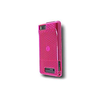 OEM Verizon High Gloss Silicone Case for Motorola Droid X MB810 (Pink) (Bulk Packaging)
