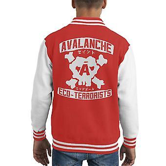 Avalanche Eco Terrorists Final Fantasy VII Kid's Varsity Jacket
