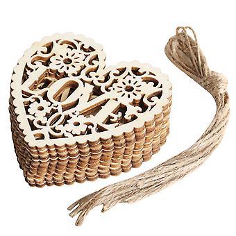 TRIXES Wedding Hearts Love Decoration Pendants 10pcs