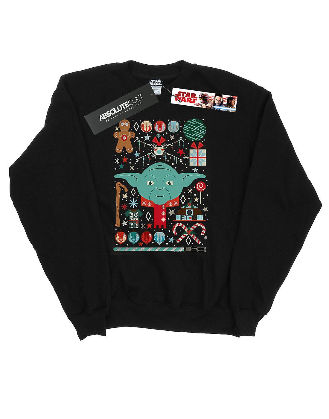 Star Wars Men's Yoda Christmas Sweatshirt