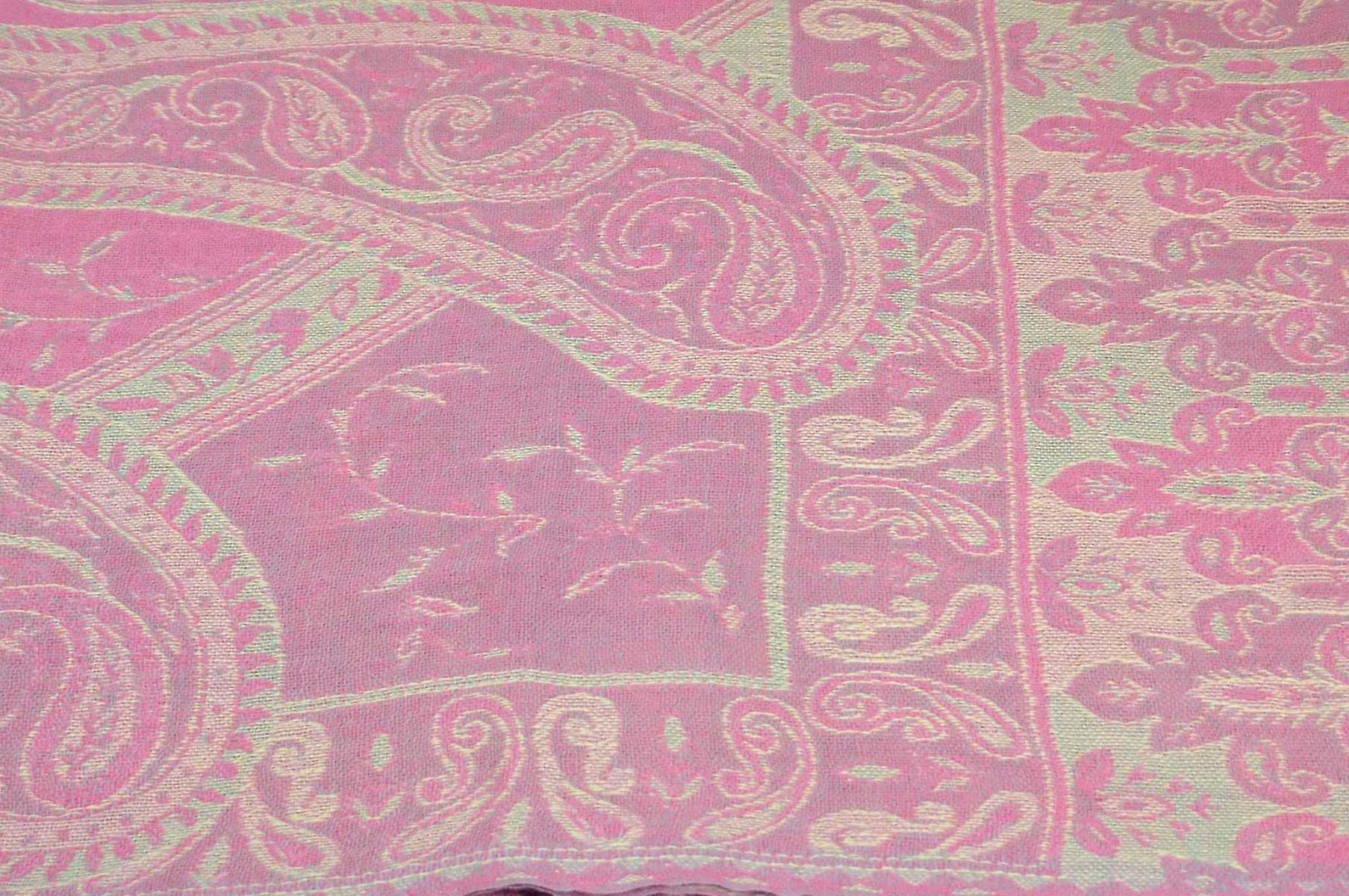 Muffler Scarf 7073 in Fine Pashmina Wool Heritage Range by Pashmina & Silk