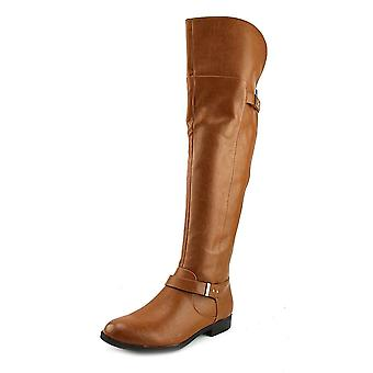 Bar III Womens DAPHNE Fabric Almond Toe Knee High Fashion Boots