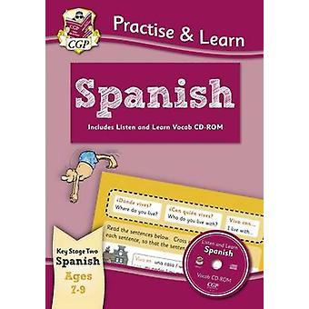 Harjoitella & opiskella - espanjaa (ikä 7-9) - Vocab CD-ROM CGP Books