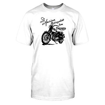 Para motociclistas americanos da Triumph Mens camiseta