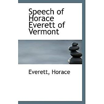 Puhe Horace Everett Vermont