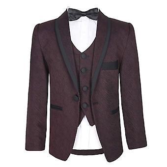 Boys Premium Flamingo Special Occasion Suit - Matteo burgundy