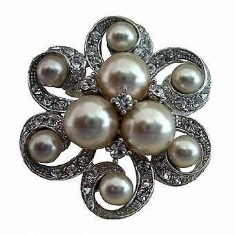 Spilla di perle per sposa o Abito da damigella d'onore, gioielli