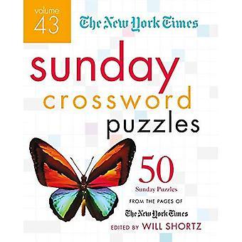 New York Times søndag krydsord volumen 43:50 søndag gåder fra siderne af New York Times