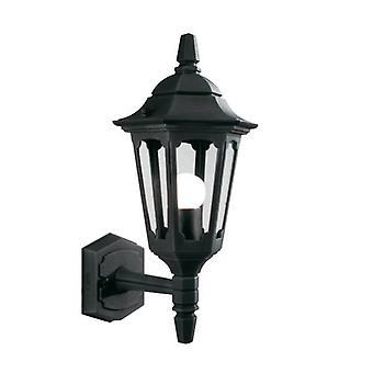 Paroisse Mini haut mur lanterne noire - éclairage Elstead