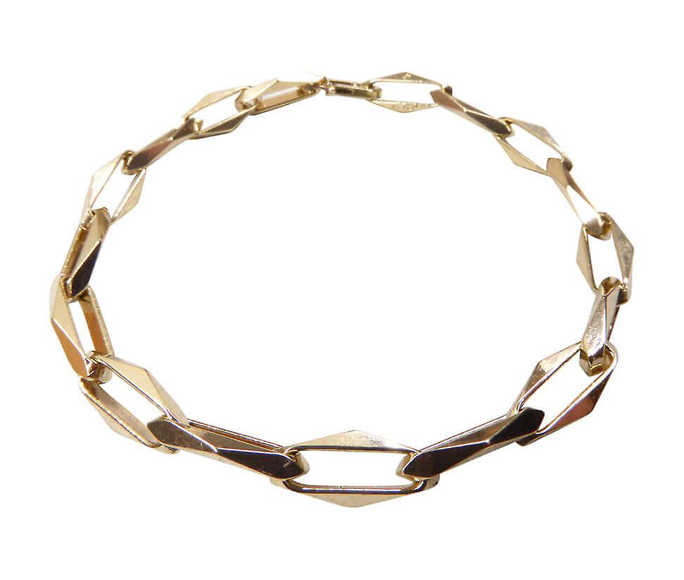 Gouden closed forever schakel armband