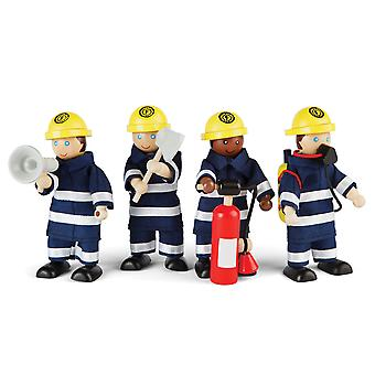 Tidlo Firefight in legno figure Play Set accessori statuine Mini
