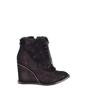 Paloma Barceló Ezbc129007 Dames's Black Suede Ankle Boots