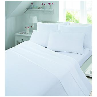Brushed Cotton Bed Extra Deep 40cm Flannelette Fitted Bed Sheet For 4ft Bed