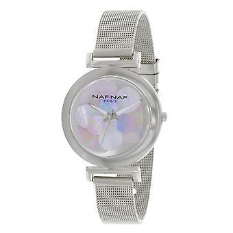 NAF Naf N10914-204 - horloge Quartz zilver staal e vrouw