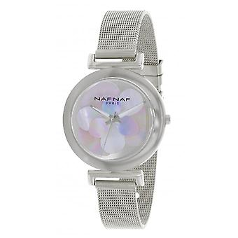 Naf Naf N10914-204 - orologio in acciaio e quarzo argento donna