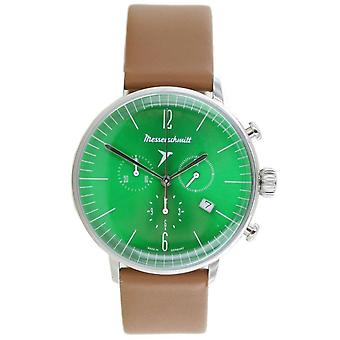 Aristo Men's Messerschmitt Watch stainless steel chronograph ME-4H184 leather
