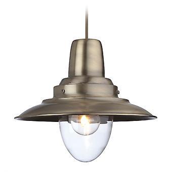Firstlight-1 ljus tak hänge antik mässing, klarglas-8645AB