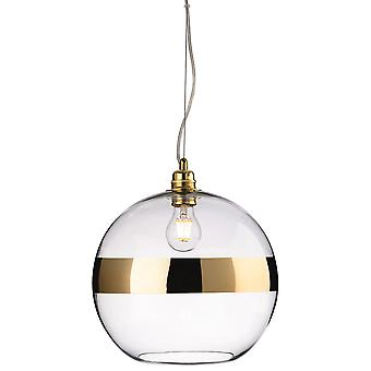 Firstlight-1 techo ligero colgante de oro, vidrio transparente-7639GO