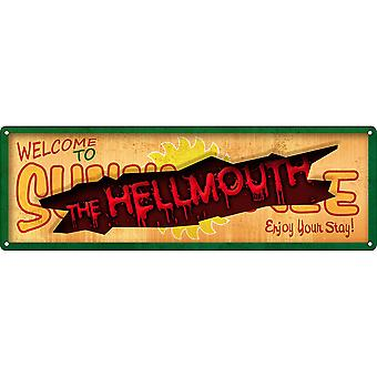Grindstore Welcome To Sunnydale Slim Tin Sign