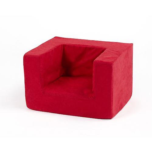 Chambre assortie définit le fauteuil en mousse confortable pour enfants en rouge. Doux, coloré, confortable et léger avec une couverture démaquillable (Jouet doux non inclus)