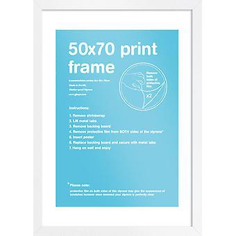 Eton cadre blanc 50x70cm affiche / Print Frame