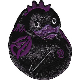 Patch - Animals - Black Punk Duck Iron On Gifts New Licensed p-3931