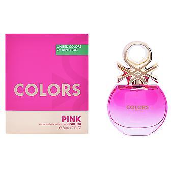 Benetton färger rosa Edt Spray 50 Ml för kvinnor