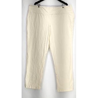 Women with Control Pants 3XT Tall Slim Leg Tummy Control Ivory A225791