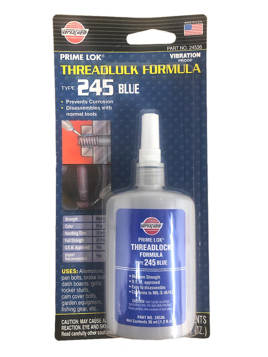Versachem 24536 Medium Blue Thread Locker - 36 ml Squeeze Bottle